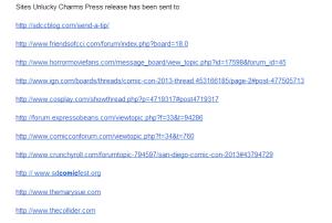 Sending Press Releases